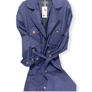 Vintage CHANEL Navy belted trench coat circa 1980